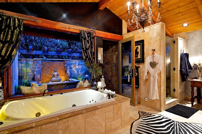Trendy Bathroom Design - Enhanced by Custom Draperies, Accents & Accessories