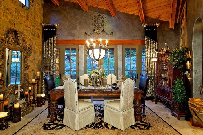 High-End Dining Room Design with Custom Furniture Design
